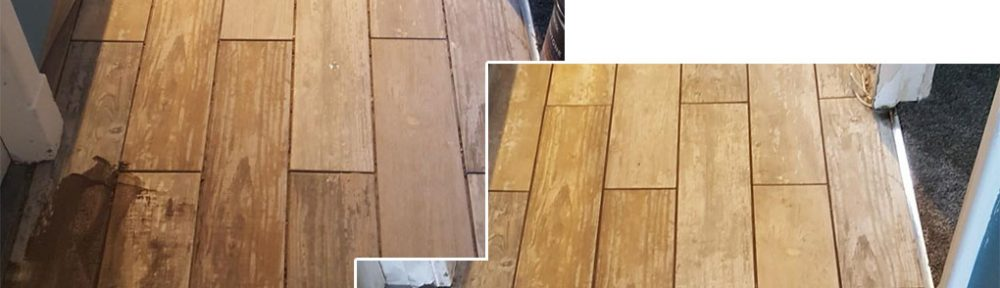 Grouting Wood Effect Porcelain floor tiles in Homes Chapel