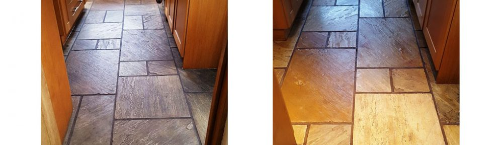 Dull Sandstone Kitchen Tiles Revitalised in Bramhall