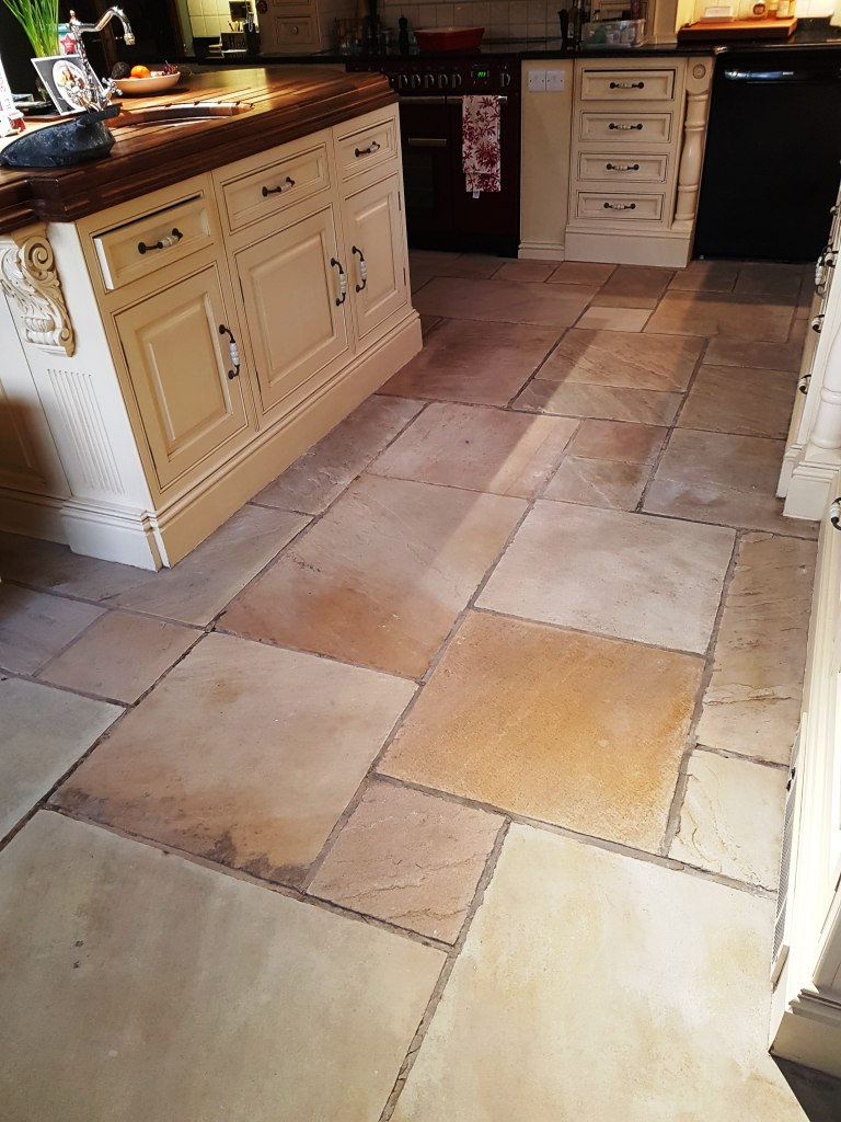 Tile doctor acid gel tile cleaners tile cleaning sandstone kitchen floor tile after cleaning quarry bank mill cottage dailygadgetfo Image collections