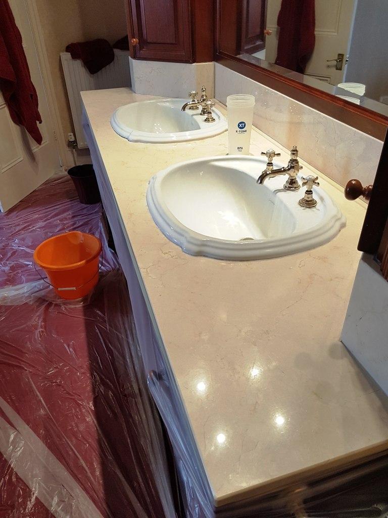 Marble Bath Surround Before Polishing Bowden