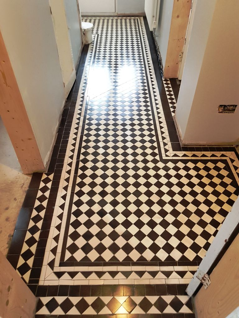 Black White Victorian Hallway Floor After Sealing Hale Barns