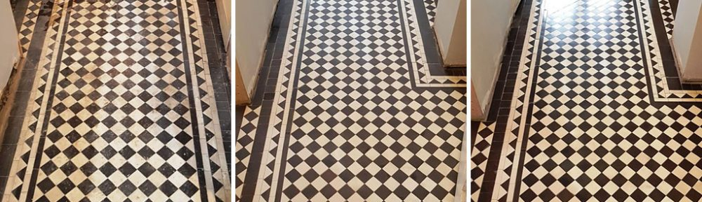 Victorian Tiled Hallway Altered and Restored in Hale Barns