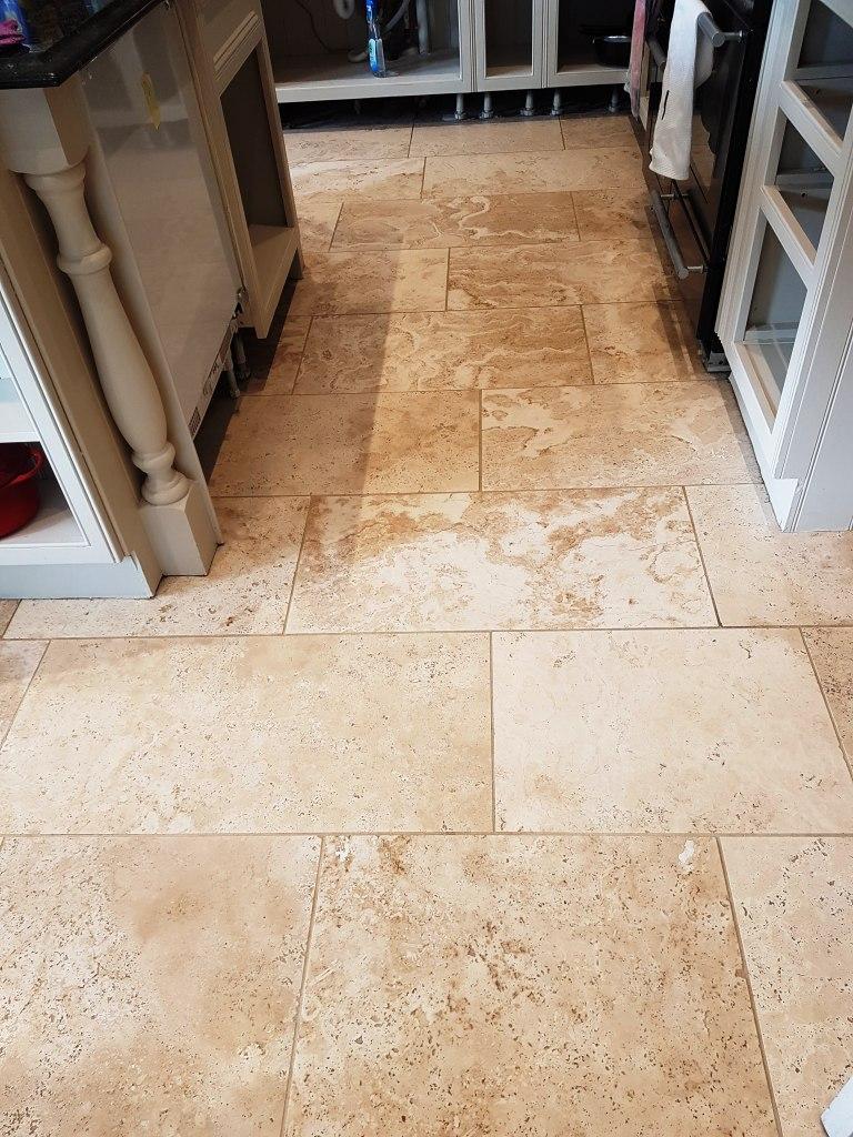 Travertine Floor After Polishing Mottram St Andrew