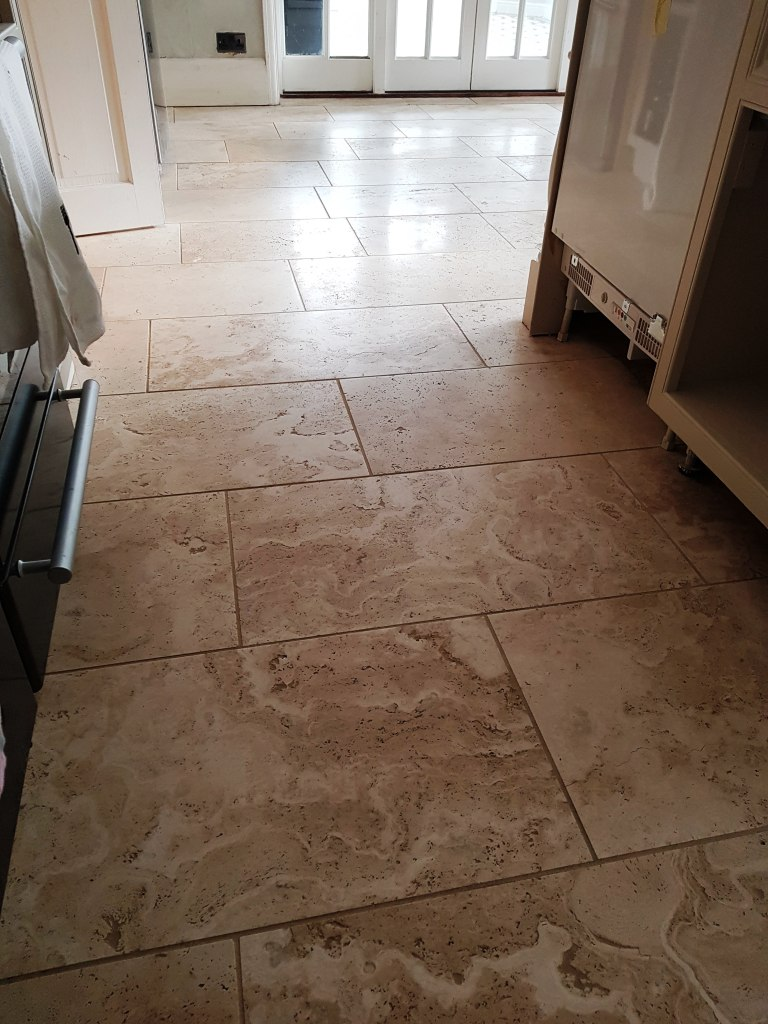 Travertine Floor After Polishing Mottram St Andrew