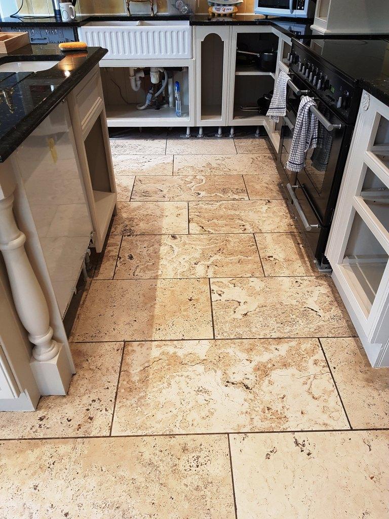 Travertine Floor Before Polishing Mottram St Andrew