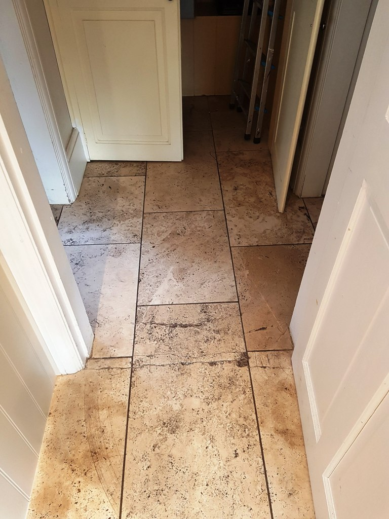 Travertine Floor Before Polishing Mottram St Andrew