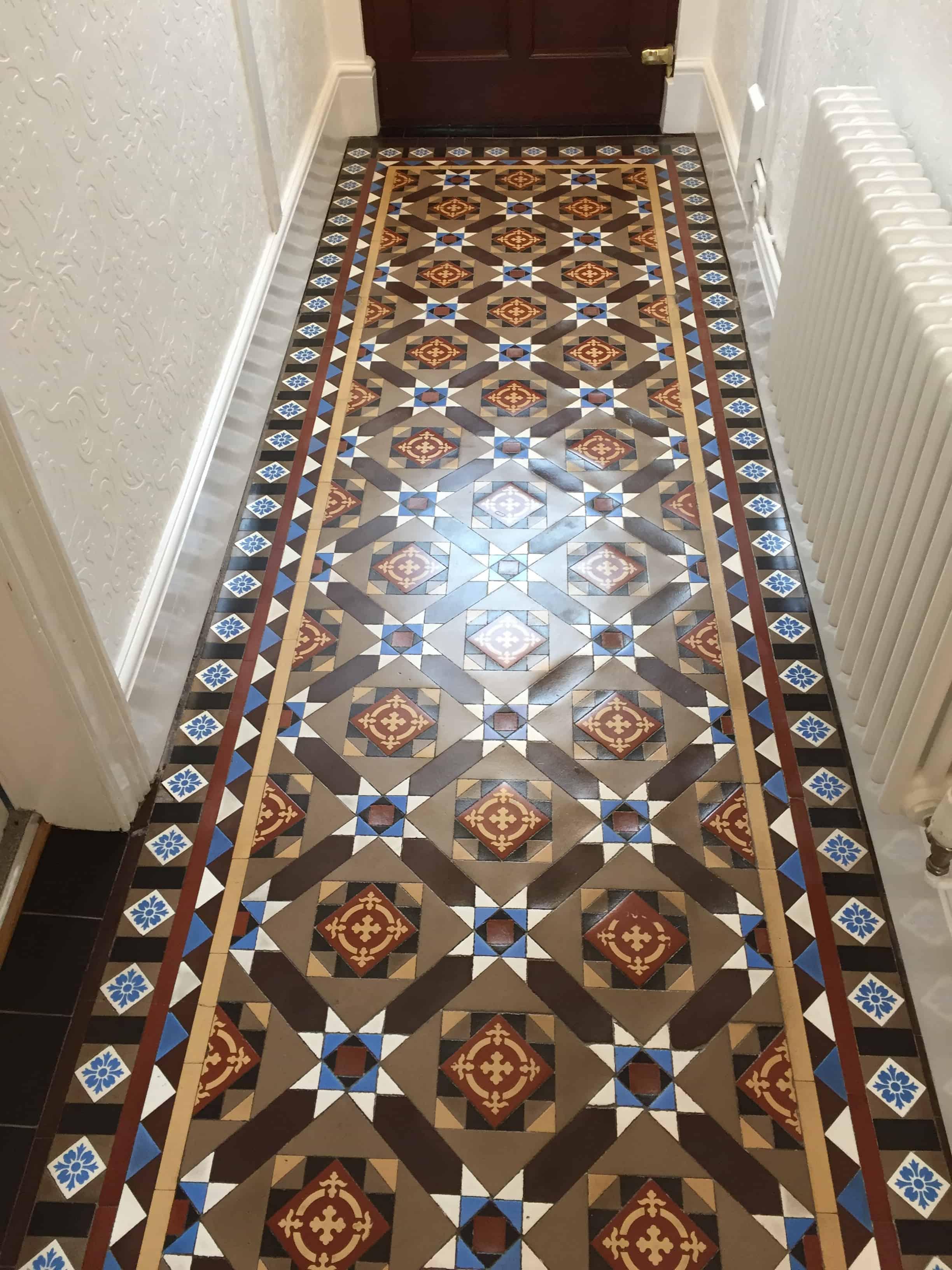 Victorian Tiled Hallway After Restoration Jodrell Bank