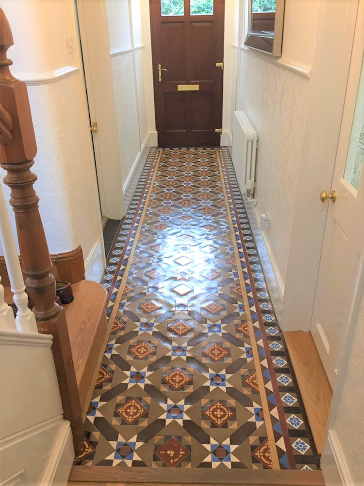 Victorian Tiled Hallway After Restoration Jodrell Bank