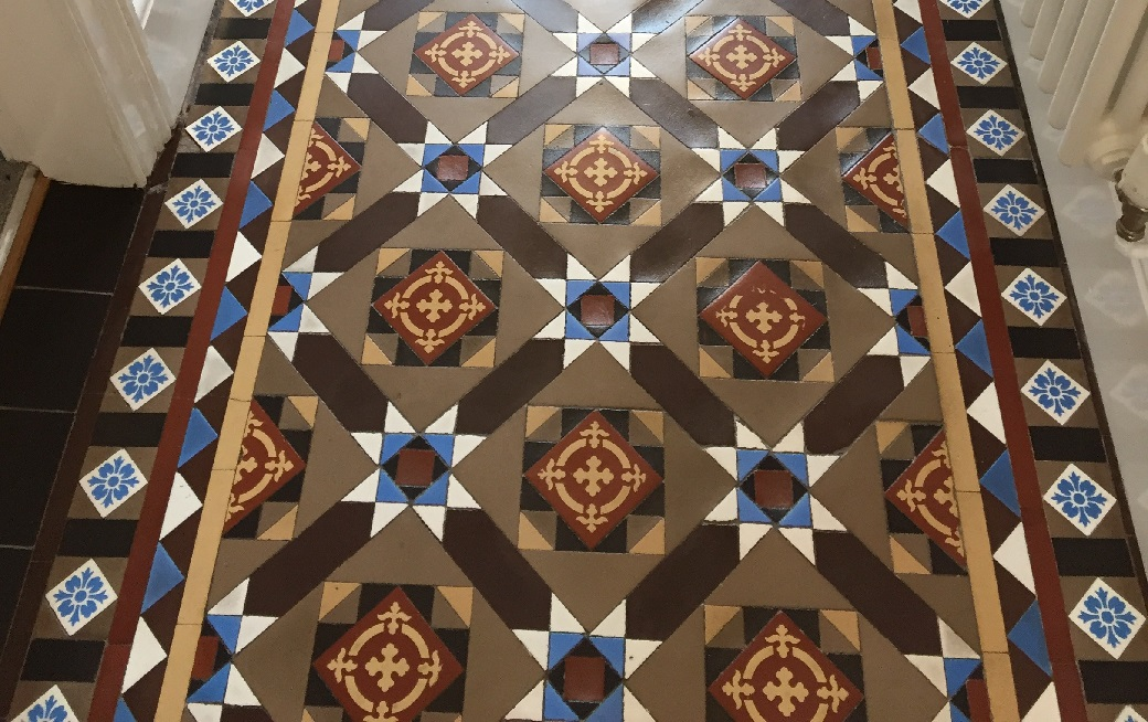 Victorian Tiled Hallway After Restoration Jodrell Bank Zoom