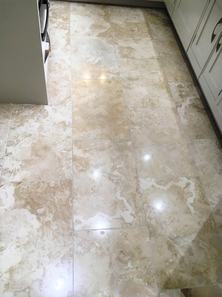 Travertine Floor After Polishing Wilmslow