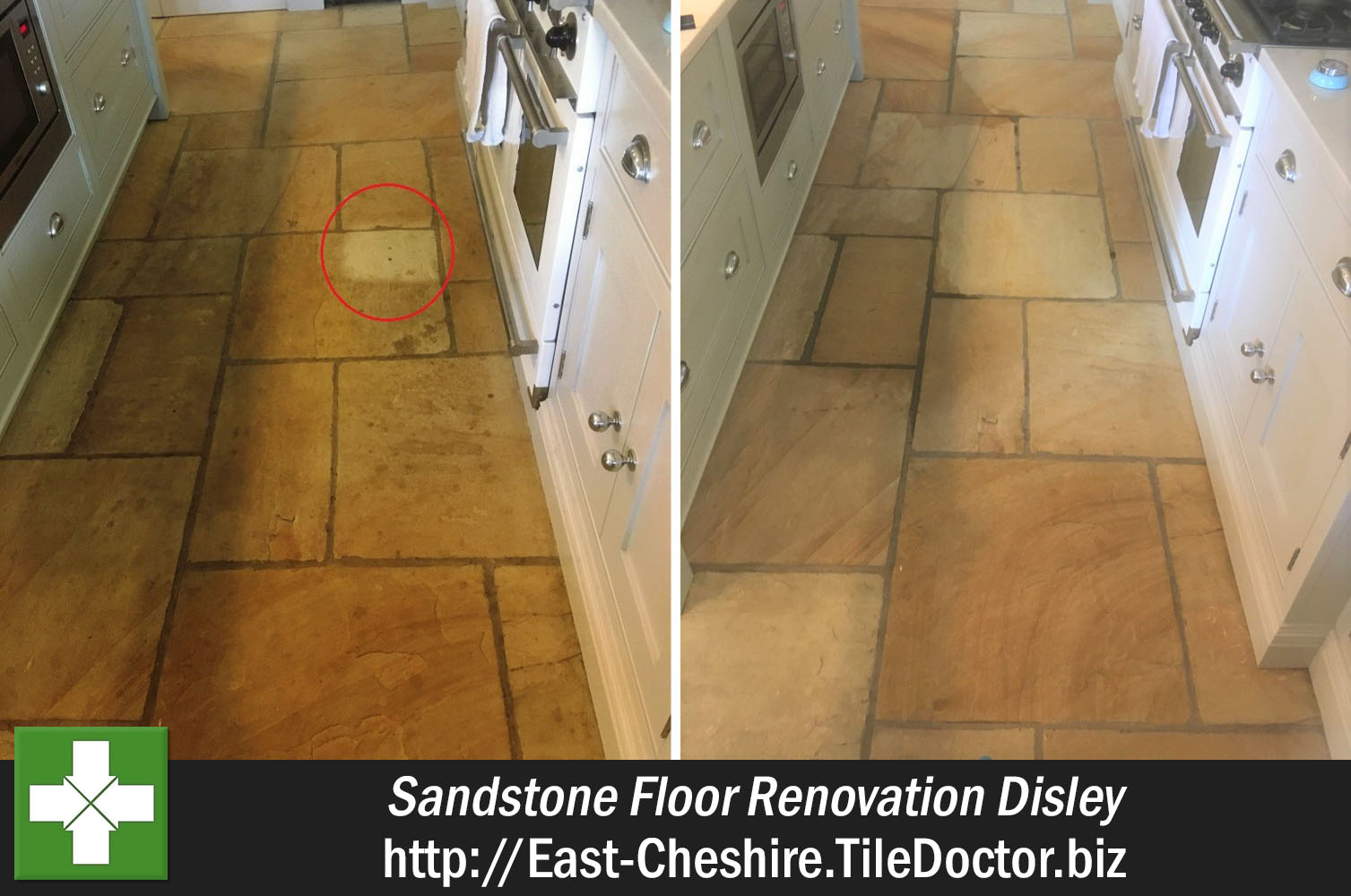 Renovating a large Sandstone Floor in Disley