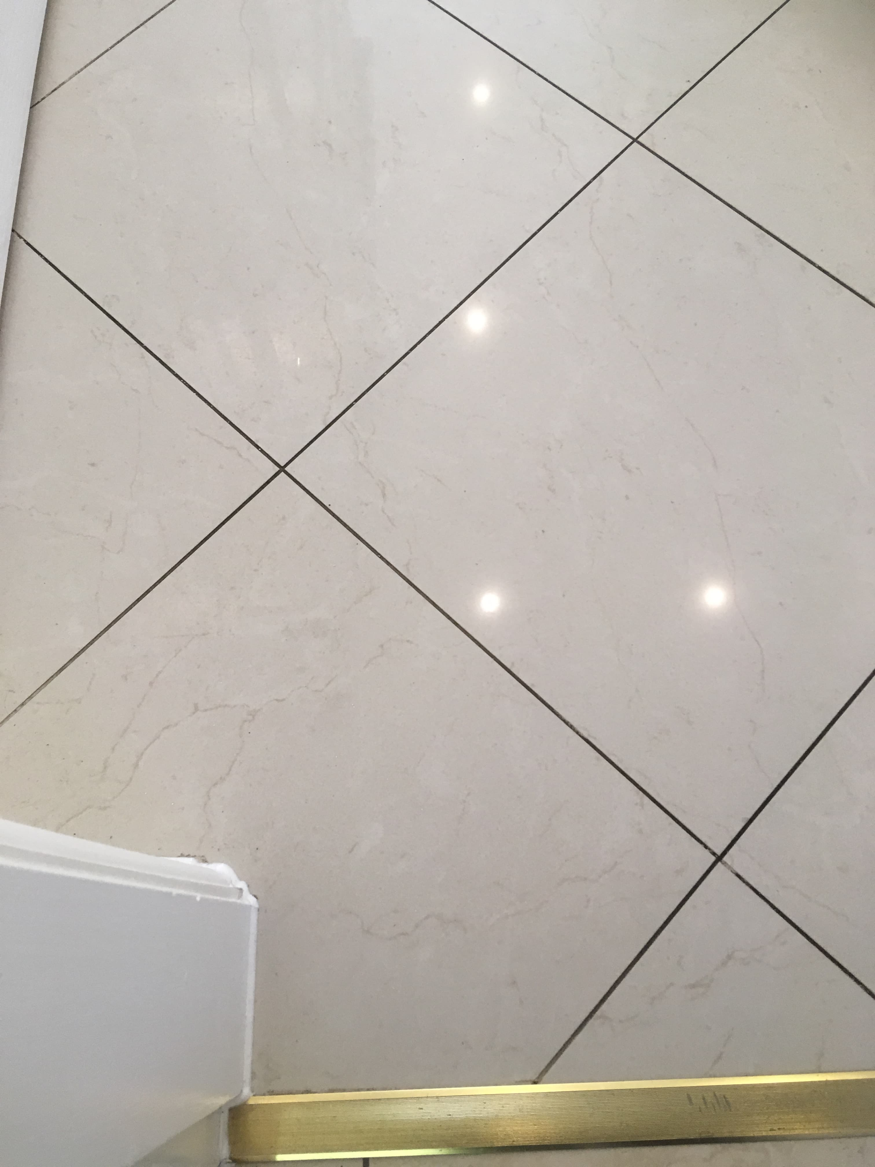 Ceramic Floor Tile Grout Before Cleaning Wilmslow
